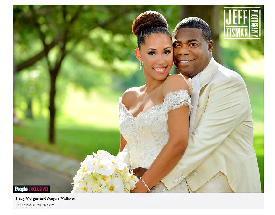Pennylane was the wedding videographer for Tracy Morgan's wedding - Photography by Jeff Tisman